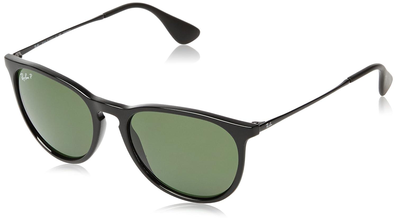 RAY-BAN RB4171 Erika Round Sunglasses, Black/Polarized Green, Polarized Green