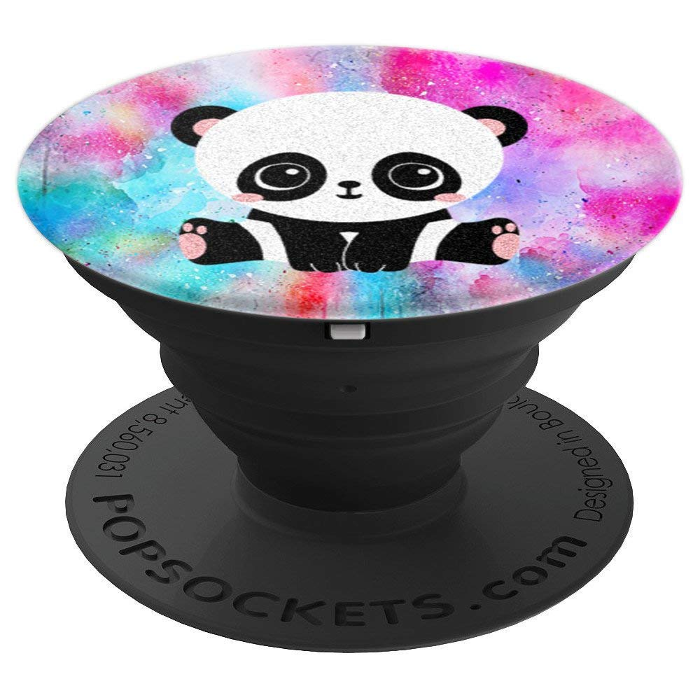 Cute Kawaii Panda Bear Watercolor - PopSockets Grip and Stand for Phones and Tablets