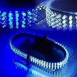 Automotive : Xprite White & Blue 240 LED Law Enforcement Emergency Hazard Warning LED Mini Bar Strobe Light with Magnetic Base