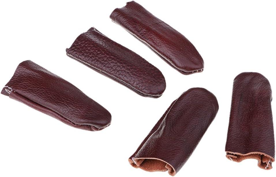 non-brand Sharplace Nadelfilz Daumenschutz Fingerschutz Schnittschutz Fingerschutzkappen Set//5St/ück Braun 90 mm