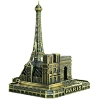Notre Dame de Paris Modello Statua Antique Vintage Style La Torre Eiffel World Famous Buildings Scultura Ghisa Edificio Artificiale Replica Regali e Souvenir Home Desktop Décor Edificio da Collezione