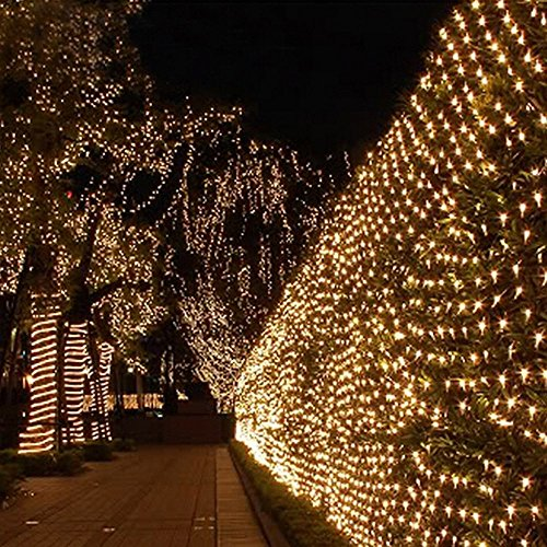 actionfly multi color outdoor rgb 96 led mesh fairy string lights twinkle lighting with us plug for wedding christmas xmas thanksgiving party events home - Led Net Christmas Lights