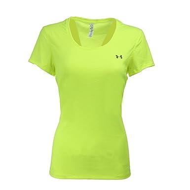 Under Armour Women's Flyweight T-Shirt, Hi Vis Yellow/Steel, ...