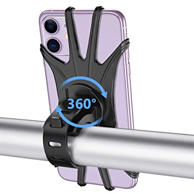 VUP Bike Phone Mount, Silicone Phone Stand for Bicycle, 360° Adjustable, Face & Touch ID, Universal Motorcycle Phone Mount for iPhone 11/Pro/XS/MAX/XR/X/7/8/Plus, Galaxy, Google Pixel, Nubia, LG: Automotive
