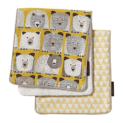 dwell studio 2 pack burp cloth set bears chickadee solutions