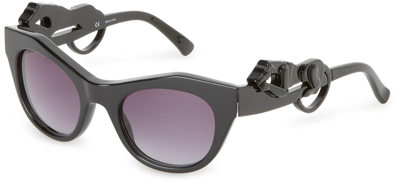 06dc97bbfab4 Amazon.com: Givenchy Sunglasses SGV782-700 Cat Eye Sunglasses,Black,49 mm:  Clothing