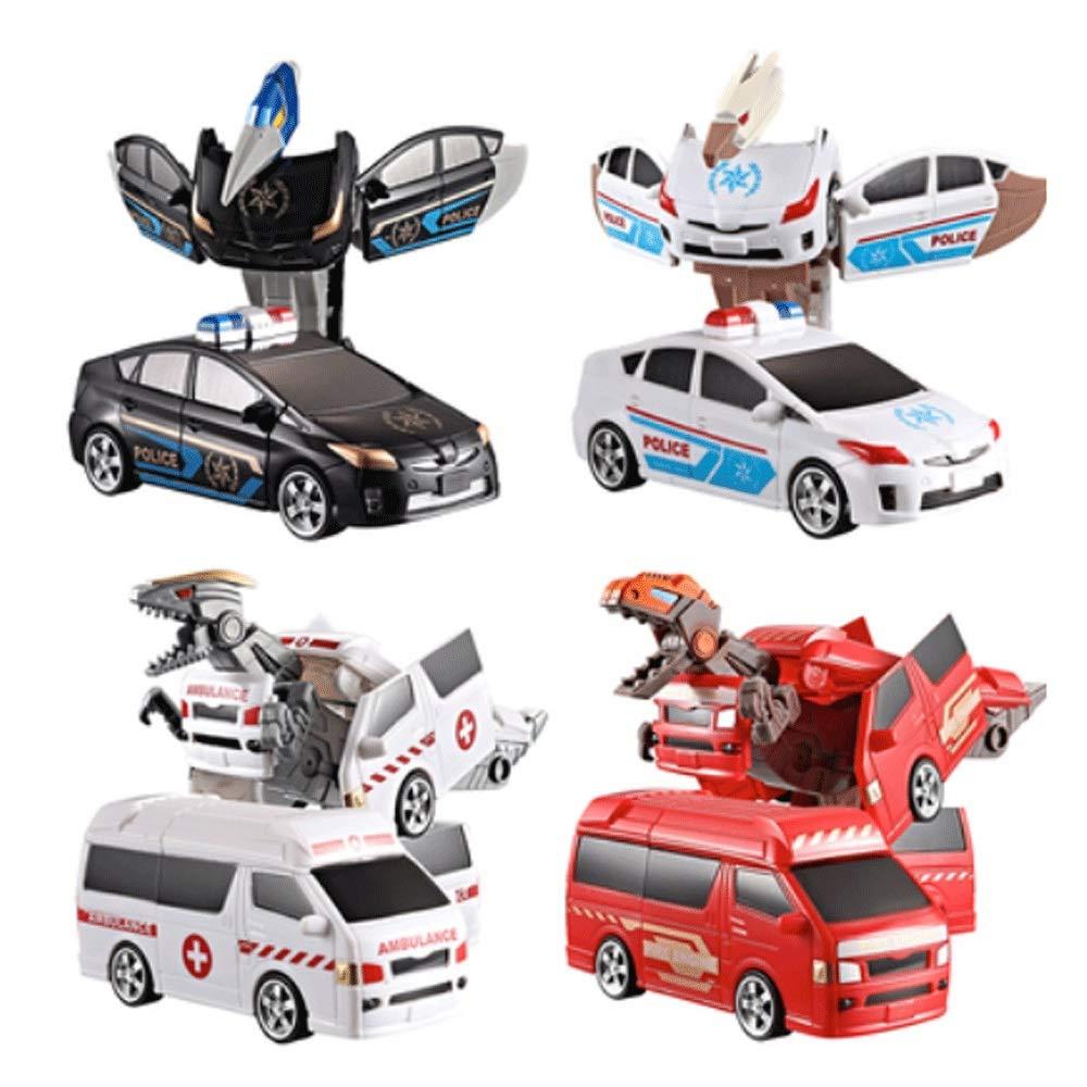 - Mopoq Déformation Mech Robot Boy Conception de jouets éducatifs for enfants et enfants La conception de dinosaures est parfaite for les cadeaux de fête d'anniversaire du Nouvel An (4 emballages séparé