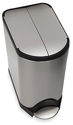 simplehuman® Brushed Stainless Steel Fingerprint-Proof 20-Liter Butterfly Step Trash Can - BedBathandBeyond.com