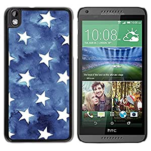 All Phone Most Case / Hard PC Metal piece Shell Slim Cover Protective Case Carcasa Funda Caso de protección para HTC DESIRE 816 Stripes Usa Blue American Flag