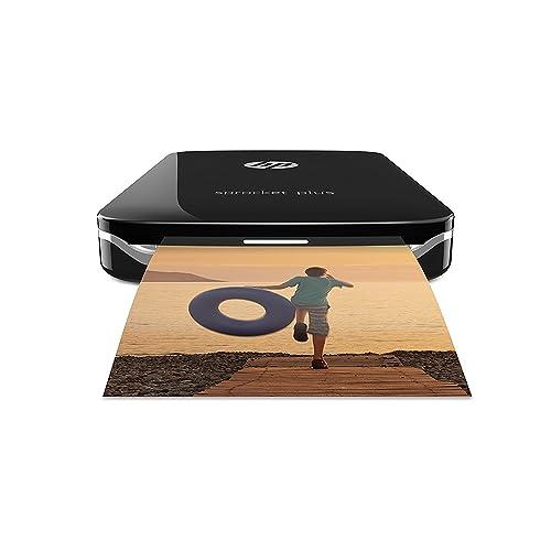 HP Sprocket Plus Impresora fotográfica portátil tecnología de impresión Zink Bluetooth fotos 5 8 x 8 6 cm negro