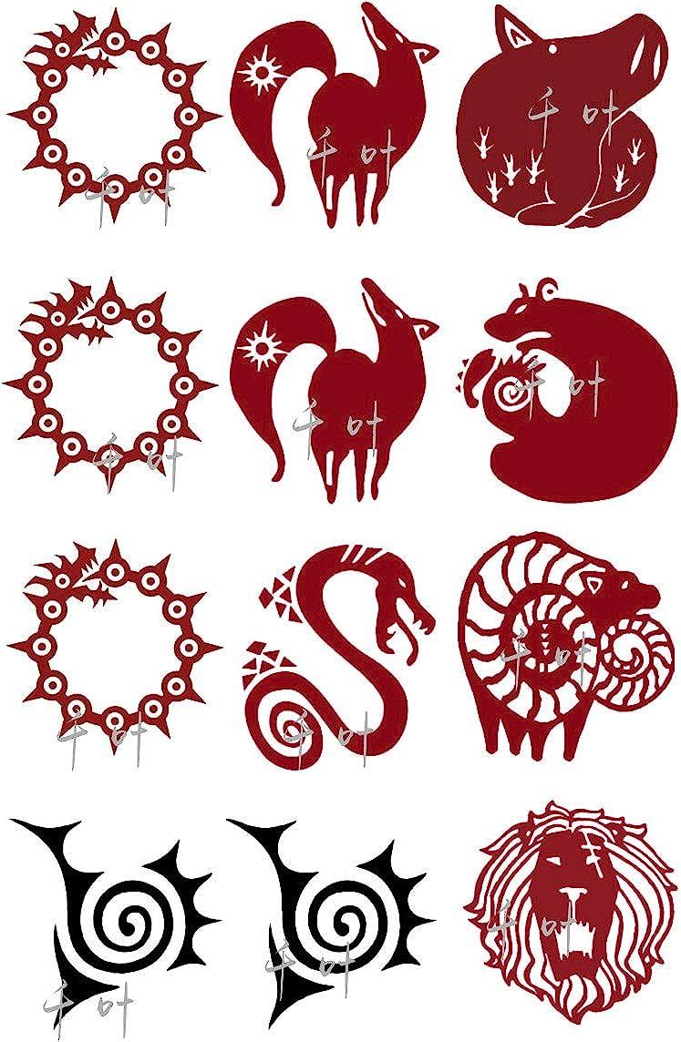 Pegatinas de tatuaje para Meliodas Diane King Cosplay: Amazon.es ...