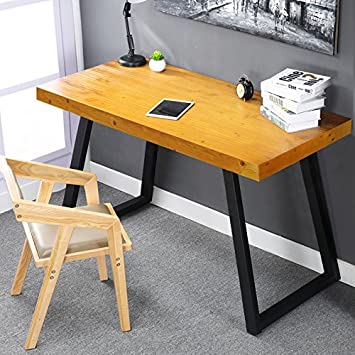 Simple Of Retro Office Desk black retro office desk drafting table by lumisource Tribesigns 55 Solid Wood Computer Desk With Heavy Duty Metal Base Simple Retro