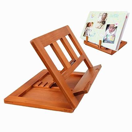 Delmkin Leggio in legno di bambù, per libro o libro da cucina, 34 x ...