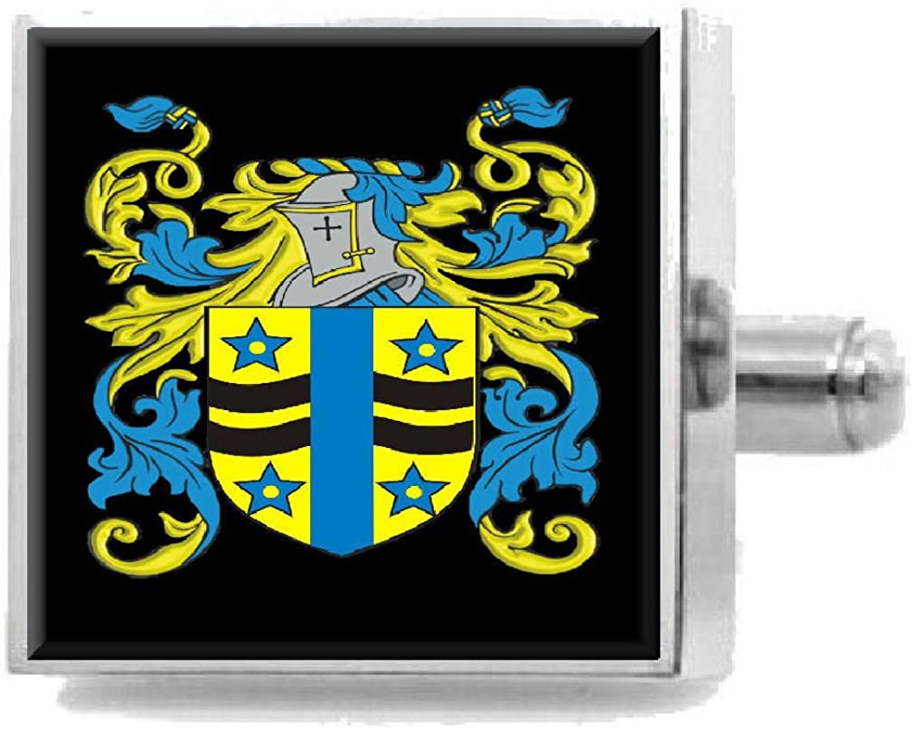 Select Gifts Macdougall Scotland Family Crest Coat Of Arms Cufflinks Personalised Case