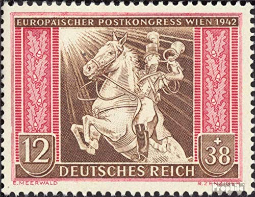 - German Empire 822 1942 European Post Congress in Vienna (Stamps for Collectors) Horses