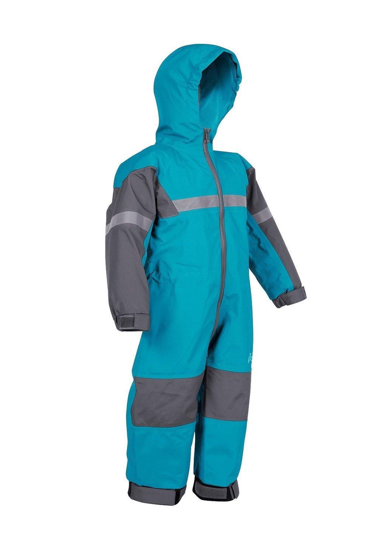 Oakiwear Kids One-Piece Waterproof Trail Rain Suit, Celestial Blue, 6/7
