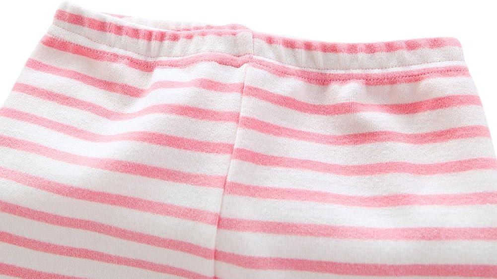 Tortor 1Bacha Kid Little Girls Stripe Bear Patchwork Leggings