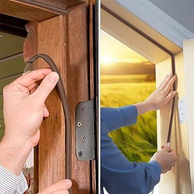 Cortador de frío para puerta, cinta adhesiva tipo D, junta de goma hermética para aislamiento fónico, junta de espuma impermeable: Amazon.es: Amazon.es