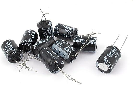 9 Pcs 400V 15uF 105C Radial Lead Electrolytic Capacitor 13mm x 18mm