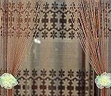 Cheap avesplit Beaded Curtain for door window Wall Screen Panel Decorative Faux Crystal Acrylic (coffee(3x6ft))