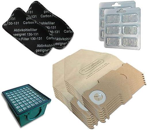 Kit de 12 Bolsas + 12 ambientadores + Filtro HEPA/EPA + 2 filtros de olores para aspiradora Vorwerk Folletto Kobold VK 130, 131 SC, VK130, VK131: Amazon.es: Hogar
