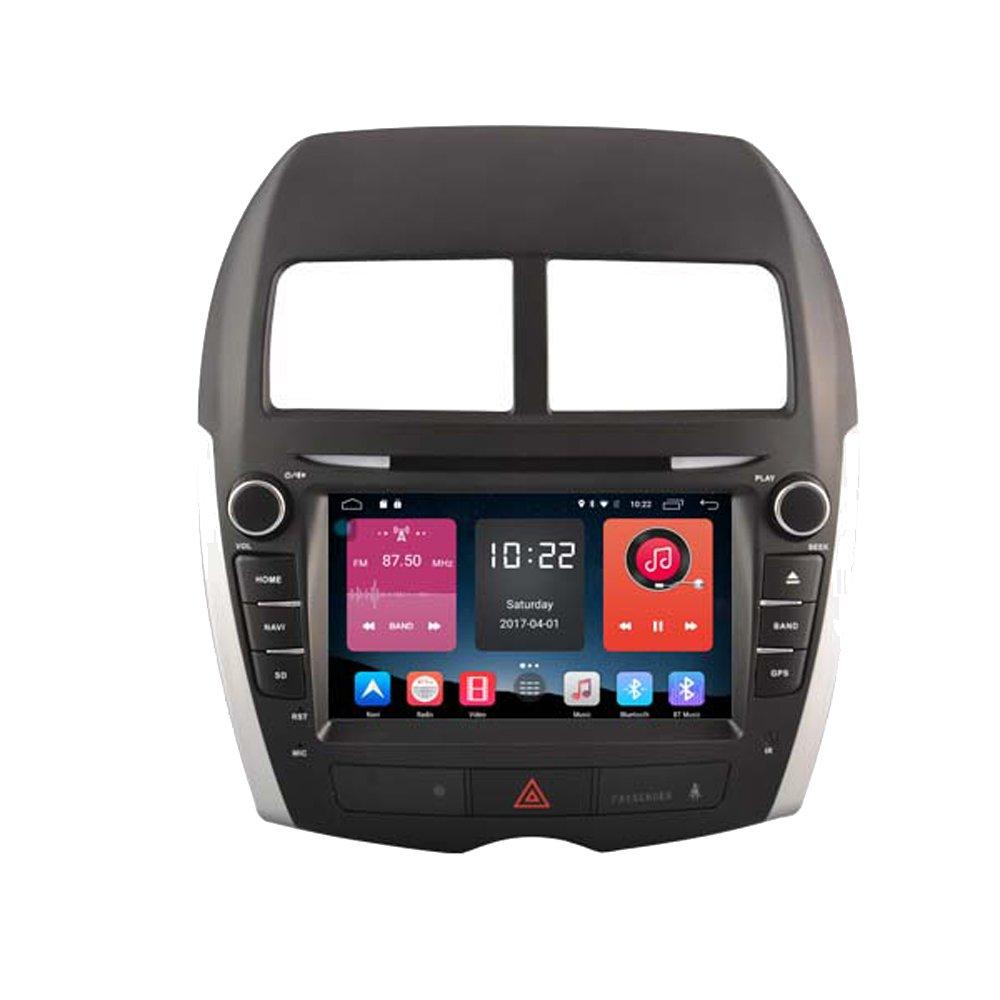 autosion 8インチダッシュAndroid 6.0で車DVDプレーヤーラジオヘッドユニットGPSナビゲーションステレオグレー三菱ASX RVRアウトランダー用スポーツプジョー4008サポートBluetooth SD USBラジオOBD Wifi DVR 1080p B078H4T8SL