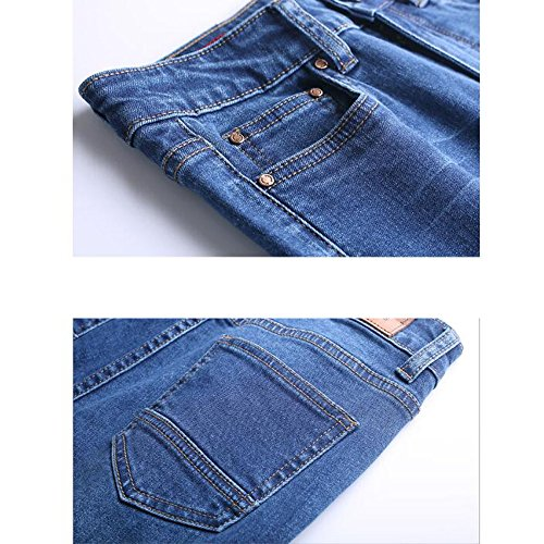 Jeans Jeans pour Ladies Flare ADEMI 37 Taille Stretchy Up Zip Haute Pants Femmes Croppedpants Blue6 UwBCp