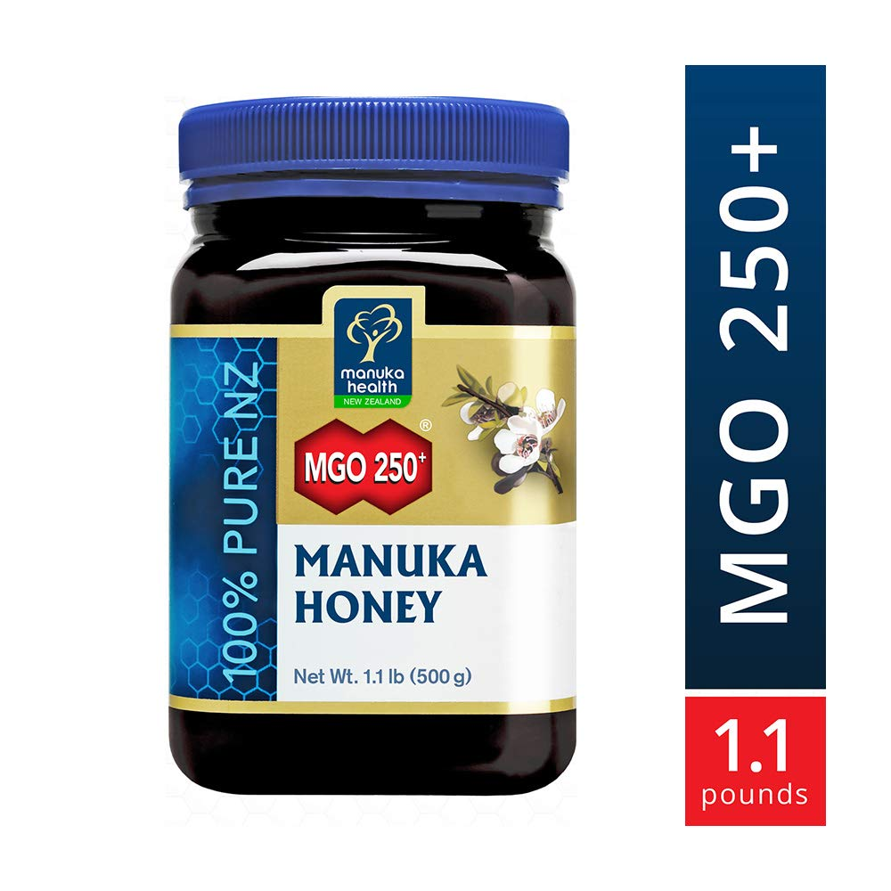 Manuka Health - MGO 250+ Manuka Honey, 100% Pure New Zealand Honey, 1.1 lbs by Manuka Health (Image #1)