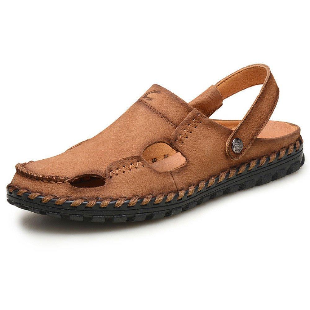 Sandalias Baotou Hechas A Mano Recortes Zapatos De Playa Impermeables 42 EU|Brown