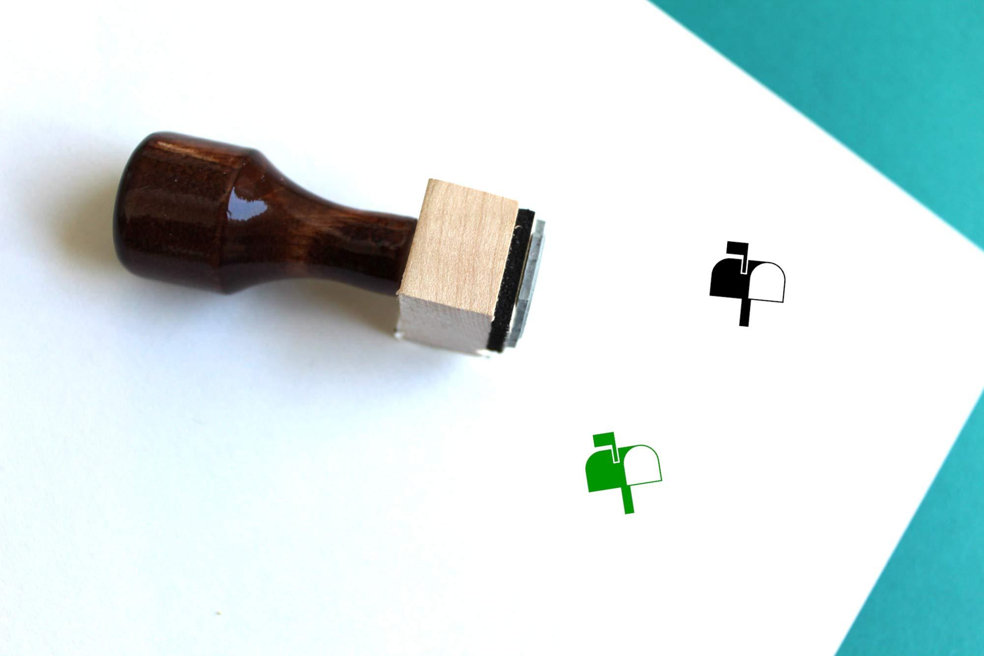 Mailbox Rubber Stamp (3'' x 3'')