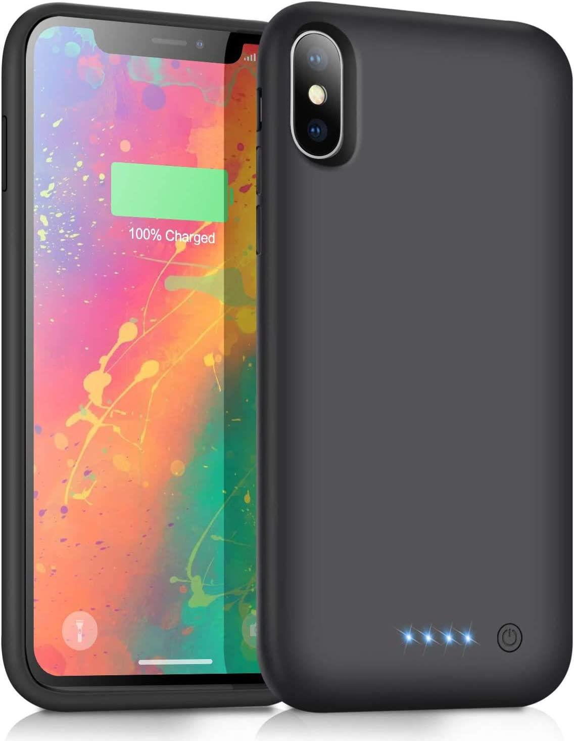 Xooparc Battery case for iPhone Xs Max [7800mah] Upgraded Charging Case Protective Portable Charger Case Rechargeable Extended Battery Pack for Apple iPhone Xs Max Charger case (6.5') Backup