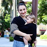 Bey Bee Full Neck Support Baby Wrap Sling Carrier, Black