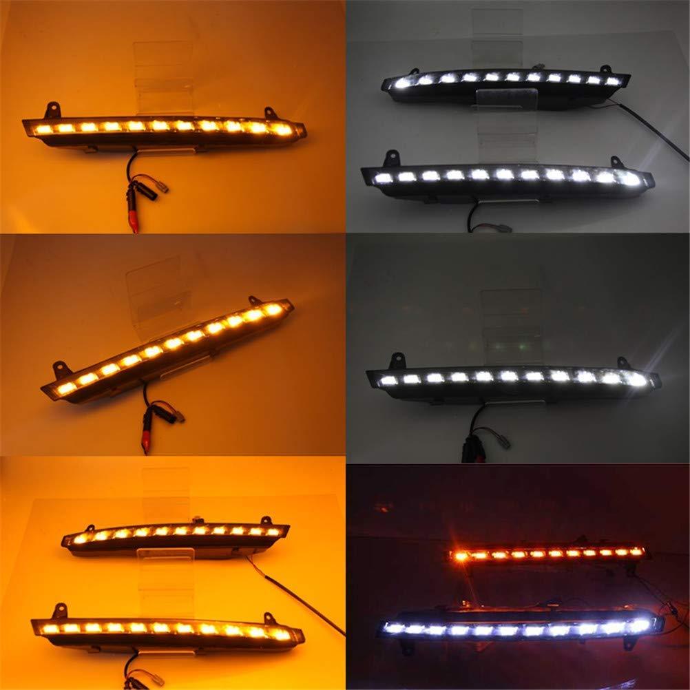 1 Paar f/ür Tagfahrlicht LED-Lampe leuchtet DC 12V mit hohen Helligkeit wasserdicht f/ür Audi Q7 Auto