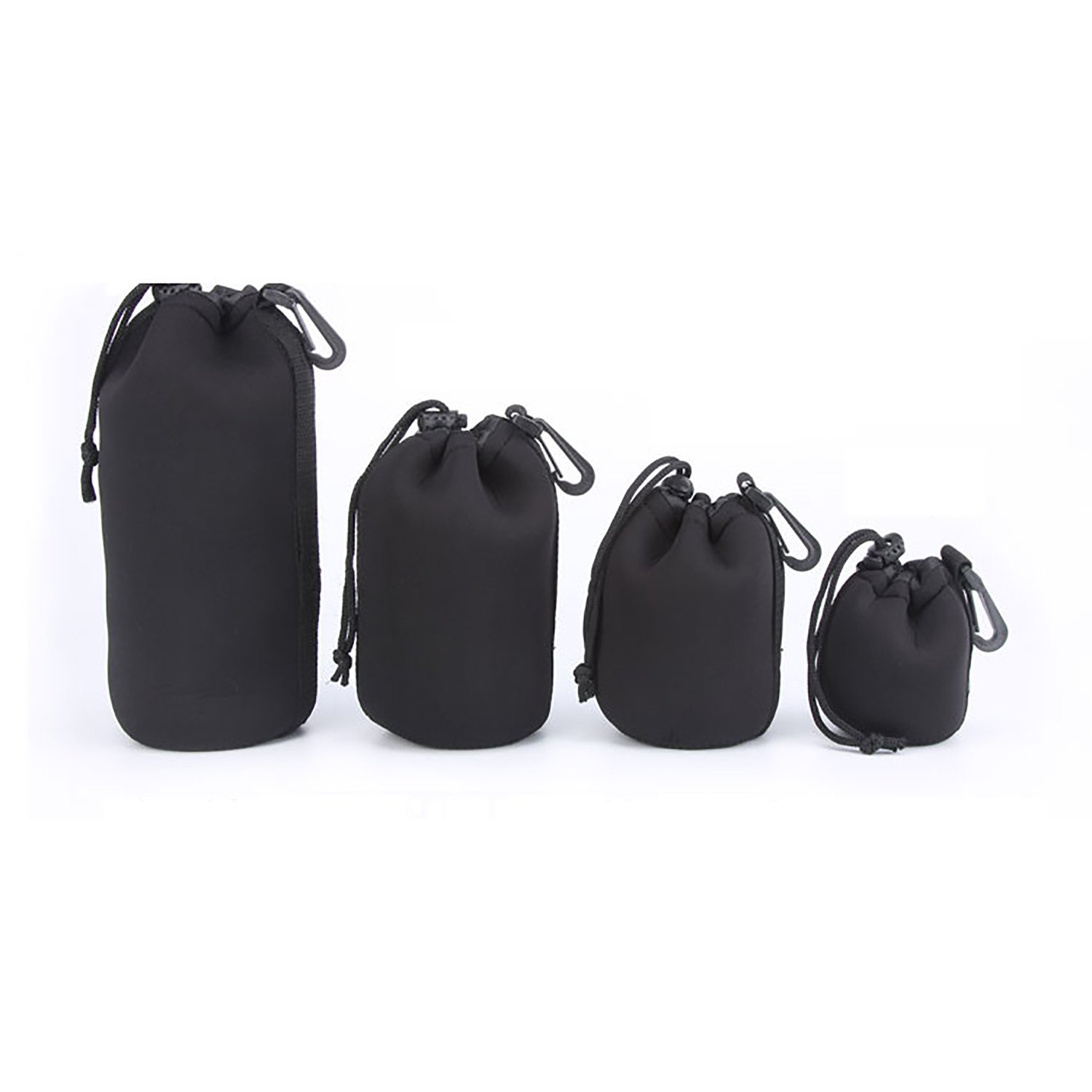 Set 4 Pack (S+M+L+XL) Lens Case for Camera DSLR Lens Soft Pouch Protector Case Cover Sleeve Bag Set The Best Kingdom