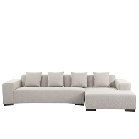 Modern Sectional Sofa Beige Fabric Left Hand Chaise Lungo  sc 1 st  Amazon.com : left hand chaise - Sectionals, Sofas & Couches