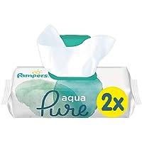 Pampers Aqua Pure Billendoekjes, 96 Babydoekjes (2 x 48 Doekjes), Gemaakt met 99% Puur Water, Dermatologisch Getest