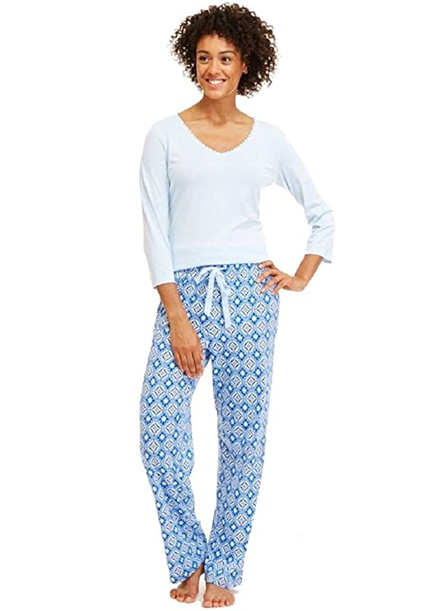 Conjunto de pijama de punto para mujer, XXL: Amazon.es: Ropa y accesorios
