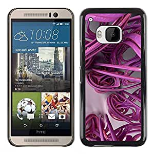 PC/Aluminum Funda Carcasa protectora para HTC One M9 3D Lines Abstract Plastic Art / JUSTGO PHONE PROTECTOR