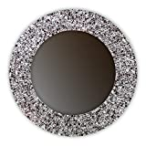 DecorShore 24″ Iced Coffee, Handmade Wall Mirror, Decorative Glass Mosaic by
