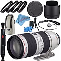 Canon EF 70-200mm f/2.8L IS II USM Lens 2751B002 + 77mm Macro Close Up Kit + Lens Cleaning Kit + Lens Pen Cleaner + Fibercloth Bundle