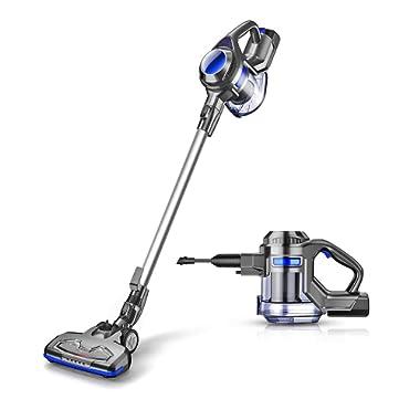 MOOSOO Cordless Vacuum Powerful Suction 10Kpa 4 in 1 Stick Handheld Vacuum Cleaner for Home Hard Floor Carpet Car Pet - XL-618A, Lightweight