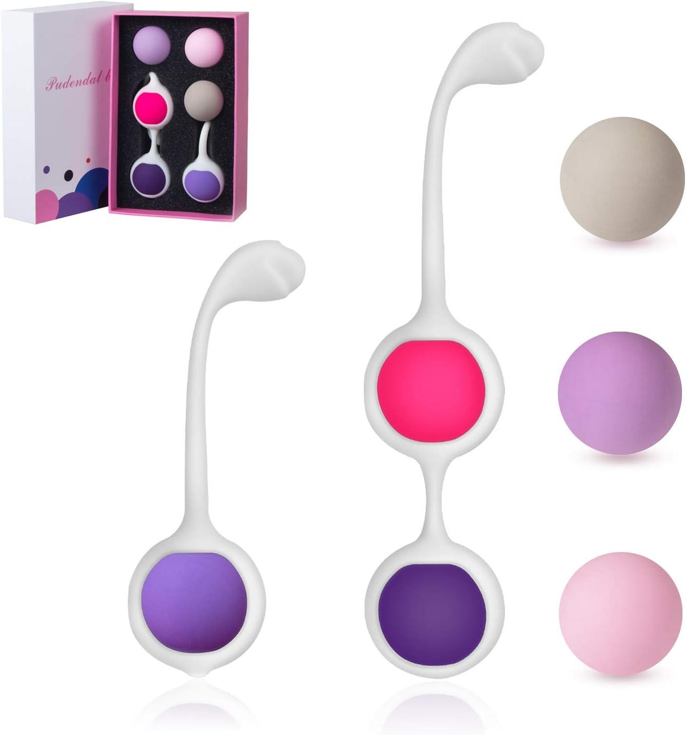 Bolas Chinas - Pesas para Ejercicios Kegel - Perfecto para reafirmar el músculo pélvico y para la prevención de incontinencia - Silicona Médica