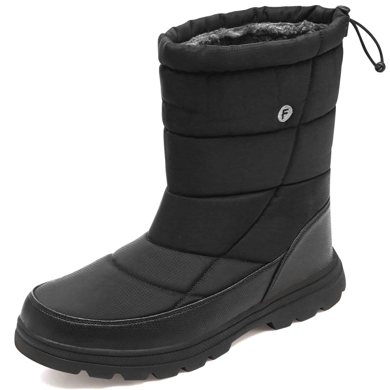 JOINFREE Unisex Winter Warm Snow Boots Work Boots Waterproof for Women and Men Black Women 8.5 M US/Men 7 M US