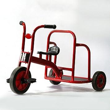 QXMEI Nuevo Triciclo para Niños Puede Llevar Bicicleta Doble De Tres Ruedas Carro De Bebé Bicicleta para Niños Carro De Bebé de 3 A 6 Años De Edad,Red: ...