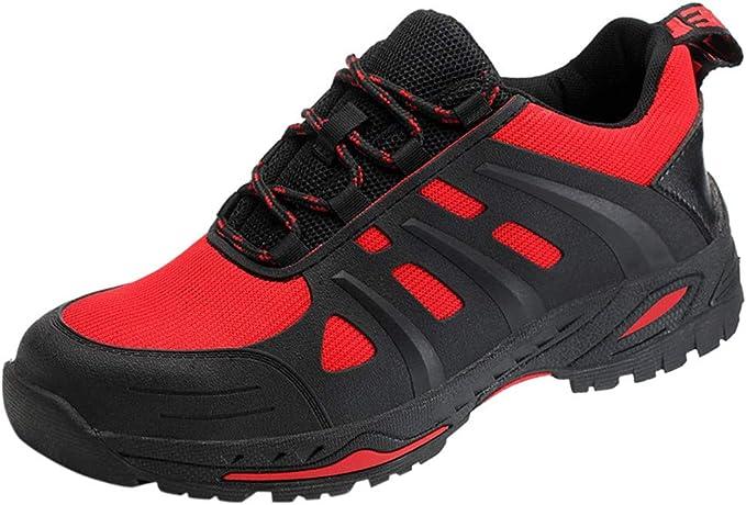 ღLILICATღ Zapatos de Seguridad para Hombre, Puntas de Acero Antideslizantes Anti-Smashing Anti-Piercing Zapatos de Trabajo: Amazon.es: Jardín
