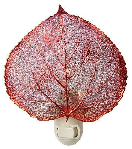 Real Leaf Aspen Night Light, Copper