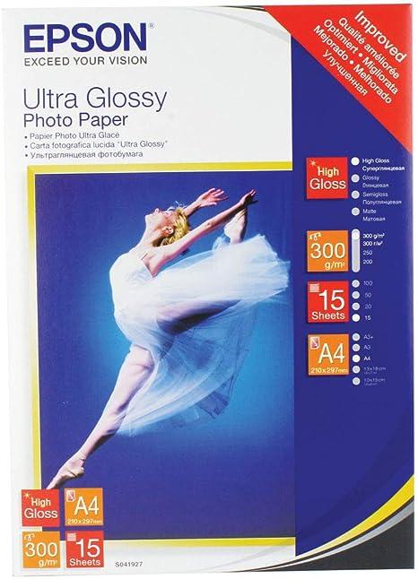 Epson Ultra Glossy Photo Paper - Papel fotográfico brillante, A4 ...