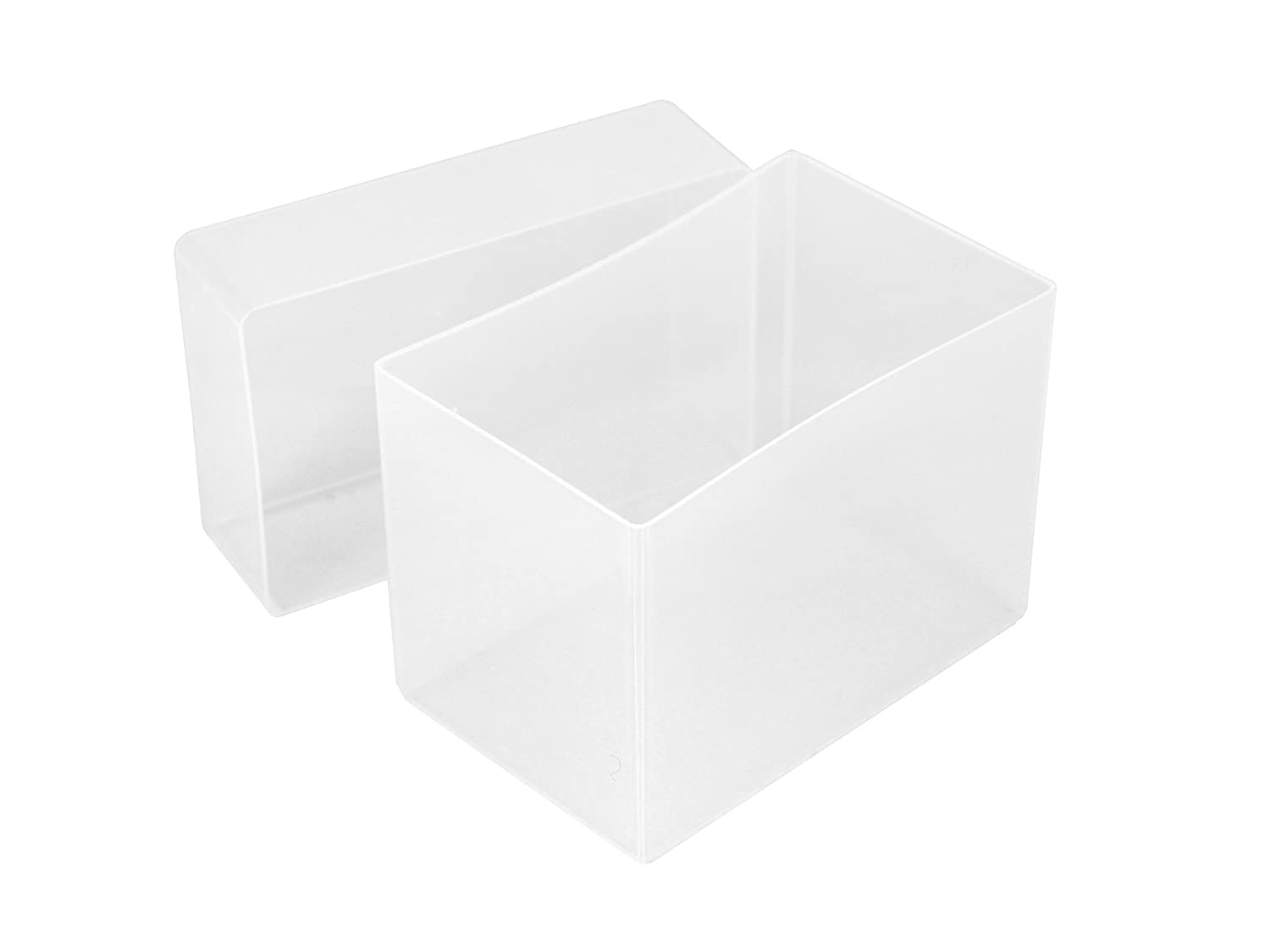 WestonBoxes Plastic Business Card Boxes 70mm Deep Green, Pack of 5