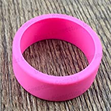 Tank Bands 21mm Silicone Tank Band Ring Bumper 21 COLORS AVAILABLE (4-PACK (Pink))