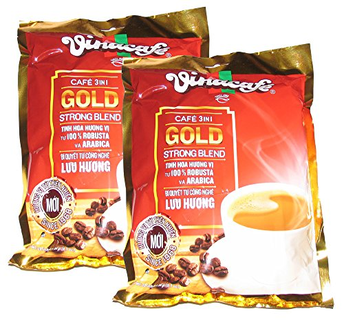 Vinacafe 3 in 1 Instant Coffee Mix Strong Blend 2-Pack (40 sachets total)